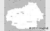 Gray Simple Map of Litoměřice
