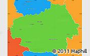 Political Simple Map of Litoměřice