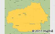 Savanna Style Simple Map of Litoměřice