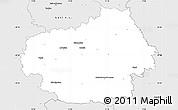 Silver Style Simple Map of Litoměřice