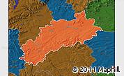 Political Map of Louny, darken