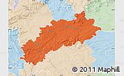 Political Map of Louny, lighten