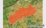 Political Map of Louny, satellite outside