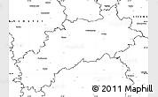 Blank Simple Map of Louny