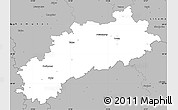Gray Simple Map of Louny