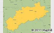 Savanna Style Simple Map of Louny