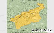 Savanna Style Map of Ústecký kraj