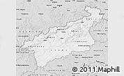 Silver Style Map of Ústecký kraj