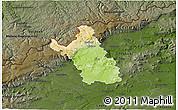 Physical 3D Map of Most, darken