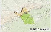 Physical 3D Map of Most, lighten