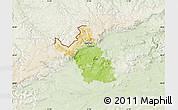 Physical Map of Most, lighten