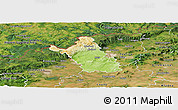 Physical Panoramic Map of Most, satellite outside