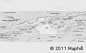 Silver Style Panoramic Map of Most