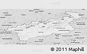 Silver Style Panoramic Map of Ústecký kraj
