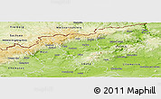 Physical Panoramic Map of Teplice