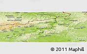 Physical Panoramic Map of Ústí n.L.
