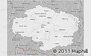 Gray 3D Map of Vysočina