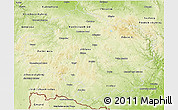 Physical 3D Map of Vysočina