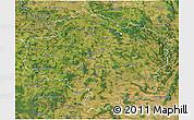 Satellite 3D Map of Vysočina