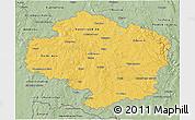 Savanna Style 3D Map of Vysočina
