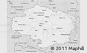 Silver Style 3D Map of Vysočina