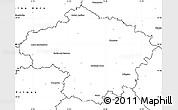 Blank Simple Map of Havlíčkův Brod