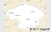 Classic Style Simple Map of Havlíčkův Brod