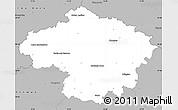 Gray Simple Map of Havlíčkův Brod
