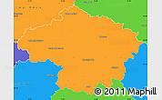 Political Simple Map of Havlíčkův Brod