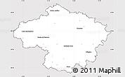 Silver Style Simple Map of Havlíčkův Brod, cropped outside