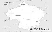 Silver Style Simple Map of Havlíčkův Brod