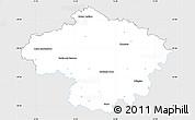 Silver Style Simple Map of Havlíčkův Brod, single color outside