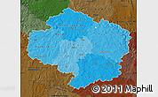 Political Shades Map of Vysočina, darken