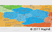 Political Shades Panoramic Map of Vysočina