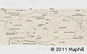 Shaded Relief Panoramic Map of Vysočina