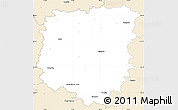 Classic Style Simple Map of Pelhřimov