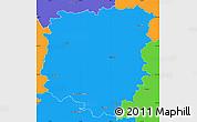 Political Simple Map of Pelhřimov