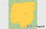 Savanna Style Simple Map of Pelhřimov