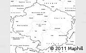 Blank Simple Map of Vysočina
