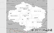 Gray Simple Map of Vysočina
