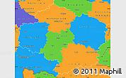 Political Simple Map of Vysočina