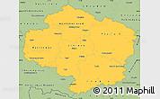 Savanna Style Simple Map of Vysočina