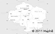 Silver Style Simple Map of Vysočina, single color outside