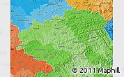 Political Shades Map of Zlínský kraj