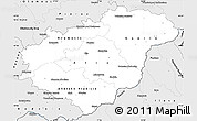 Silver Style Simple Map of Zlínský kraj