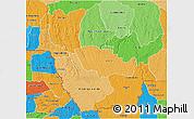 Political Shades 3D Map of Kwango