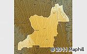 Physical Map of Kahemba, darken