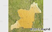 Physical Map of Kahemba, satellite outside