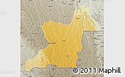Physical Map of Kahemba, semi-desaturated