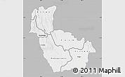 Gray Map of Kwango, single color outside